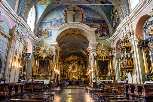 Pilgrim「Baroque interior of the Bernardine monastery in Kalwaria Zebrzydowska, Poland」:スマホ壁紙(14)