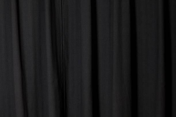 Dark Black Curtain Folded at a Theater:スマホ壁紙(壁紙.com)