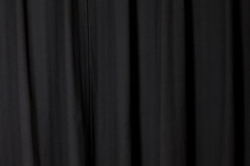 Curtain「Dark Black Curtain Folded at a Theater」:スマホ壁紙(8)