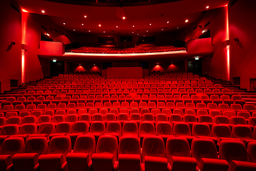 Musical Theater「Red seats in theather」:スマホ壁紙(8)