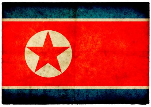 Korea「Grunge North Korean Flag on rough edged old postcard」:スマホ壁紙(15)