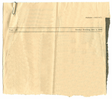 Letter - Document「Antique Newspaper Article」:スマホ壁紙(9)