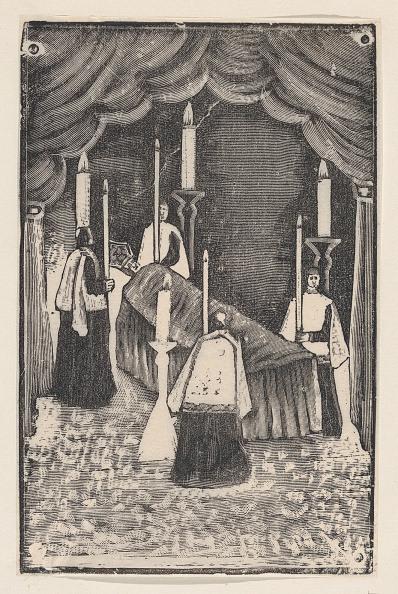Etching「A Group Of Holy Men Holding Candles Around A Bier With A Prelate」:写真・画像(19)[壁紙.com]