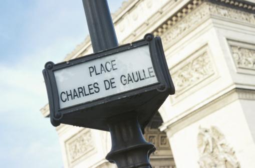 Arc de Triomphe - Paris「Sign and Arc de Triomphe, Place Charles de Gaulle, Paris」:スマホ壁紙(17)