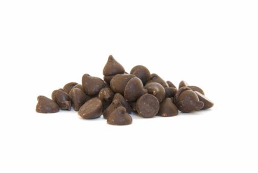 Milk Chocolate「Pile of chocolate chips on white」:スマホ壁紙(8)