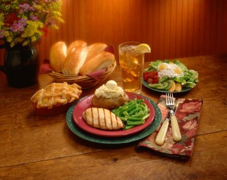 Baked Potato「Grilled chicken breast dinner」:スマホ壁紙(13)