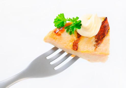 Sour Cream「grilled chicken breast on a fork」:スマホ壁紙(9)