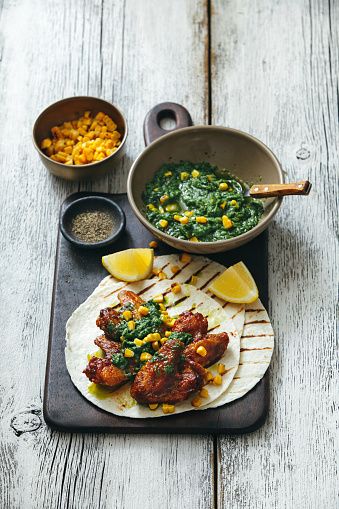 Chicken Wing「Grilled chicken wings with green chilli and corn salsa」:スマホ壁紙(10)