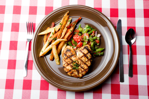 Char-Grilled「Grilled Chicken Breast Green Beans and French Fries」:スマホ壁紙(7)