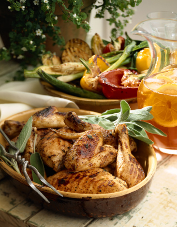 Chicken Wing「Grilled chicken and vegetables」:スマホ壁紙(7)