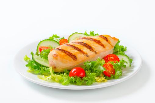 Chicken Meat「grilled chicken breast with vegetable garnish」:スマホ壁紙(16)