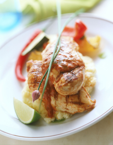 Chili Sauce「Grilled chicken breast with tomato chili sauce」:スマホ壁紙(10)