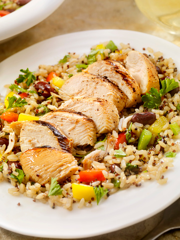 Brown Rice「Grilled Chicken with Quinoa and Brown Rice Salad」:スマホ壁紙(16)