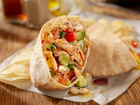 Stuffed「Grilled Chicken Salad Pita Sandwich」:スマホ壁紙(6)