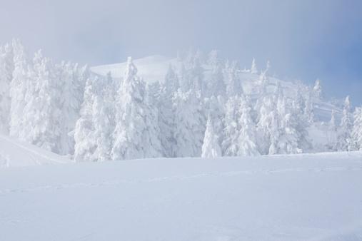 雪「吹雪の山々」:スマホ壁紙(6)
