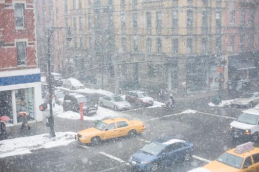 吹雪「Snowstorm in New York City」:スマホ壁紙(16)