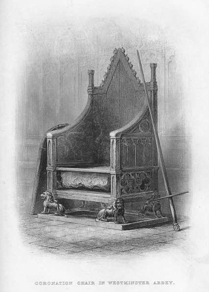 Chair「Coronation Chair in Westminster Abbey, 1859」:写真・画像(5)[壁紙.com]