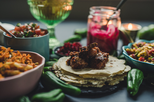 Taco「Mexican tex mex dinner food photography」:スマホ壁紙(13)