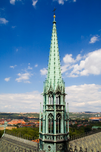 St Vitus's Cathedral「Czech Republic, Prague, spire on the gothic style St. Vitus Cathedral」:スマホ壁紙(12)