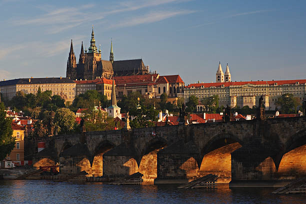 Czech Republic, Prague, Charles Bridge, Vltava River, Prague Castle:スマホ壁紙(壁紙.com)