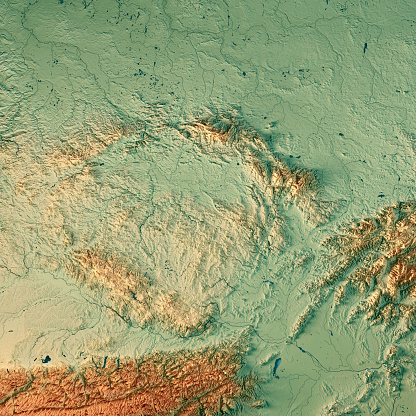 Topographic Map「Czech Republic Country 3D Render Topographic Map」:スマホ壁紙(10)