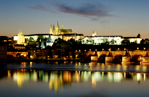 St Vitus's Cathedral「Czech Republic, Prague, skyline」:スマホ壁紙(14)