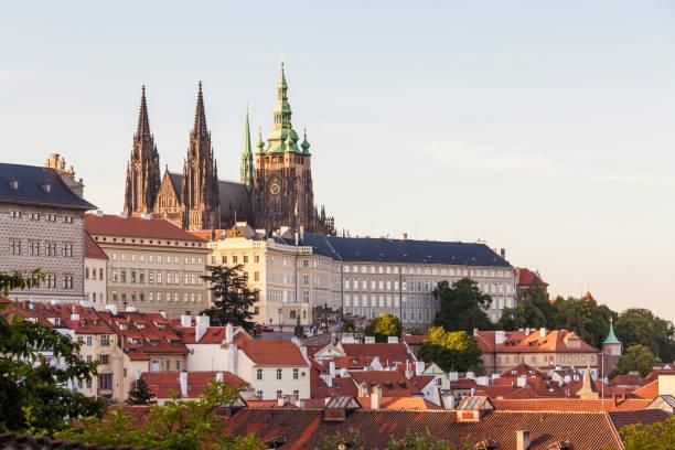 Czech Republic, Prague, Mala Strana, Hradcany, Castle and St Vitus Cathedral:スマホ壁紙(壁紙.com)