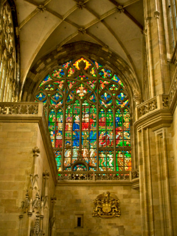 St Vitus's Cathedral「Czech Republic, Prague, St. Vitus Cathedral, Stained glass window」:スマホ壁紙(16)