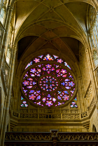 St Vitus's Cathedral「Czech Republic, Prague, St. Vitus Cathedral, Stained glass window」:スマホ壁紙(17)