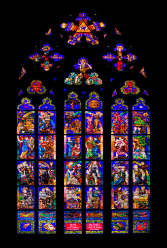 St Vitus's Cathedral「Czech Republic, Prague, St. Vitus Cathedral, Thun Chapel, Stained glass window」:スマホ壁紙(11)