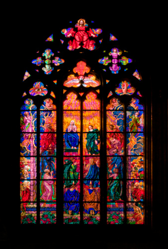 St Vitus's Cathedral「Czech Republic, Prague, St. Vitus Cathedral, Chapel of St. Ludmila, Stained glass window」:スマホ壁紙(11)