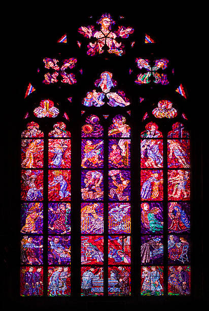 Czech Republic, Prague, St. Vitus Cathedral, Chapel of Holy Sepulchre, Stained glass window:スマホ壁紙(壁紙.com)