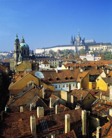 Hradcany「Czech Republic, Bohemia, Prague, view of Hradcany Castle over rooftops」:スマホ壁紙(19)