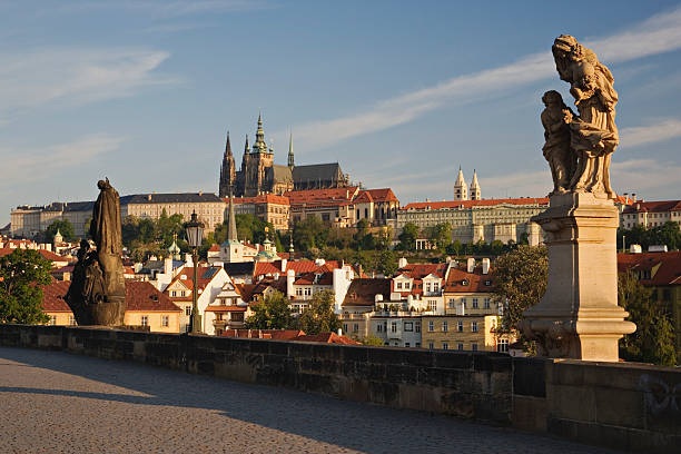 Czech Republic, Prague, statues on Charles Bridge:スマホ壁紙(壁紙.com)