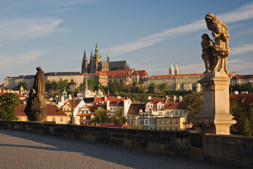 St Vitus's Cathedral「Czech Republic, Prague, statues on Charles Bridge」:スマホ壁紙(18)
