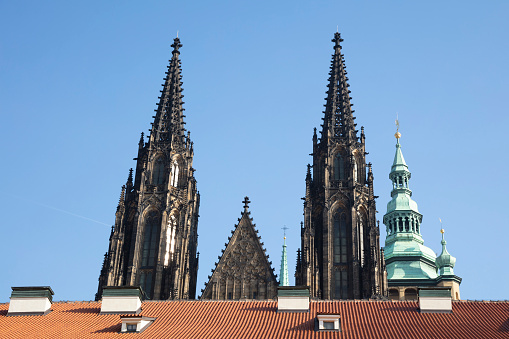 St Vitus's Cathedral「Czech Republic, Prague, Towers of St. Vitus Cathedral」:スマホ壁紙(19)