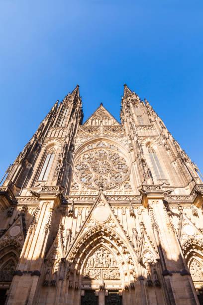 Czech Republic, Prague, Hradcany, Castle, St Vitus Cathedral, western portal:スマホ壁紙(壁紙.com)