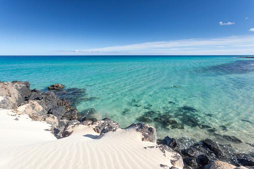 Atlantic Islands「Crystal blue water with nobody, no people in Fuerteventura. canary Islands」:スマホ壁紙(15)