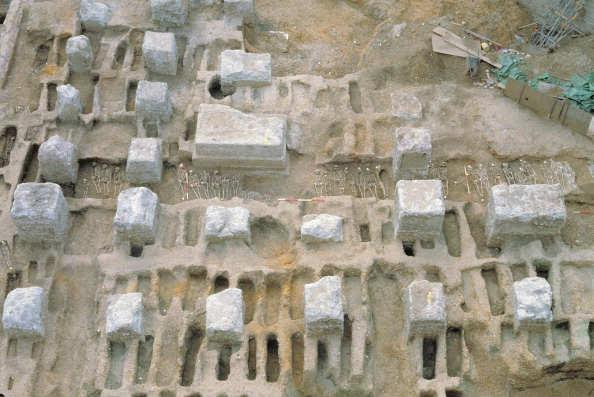 Circa 14th Century「The Excavation Of The Black Death Cemetery At The Royal Mint Site」:写真・画像(5)[壁紙.com]