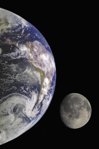 Solar System「Earth and Moon」:スマホ壁紙(4)