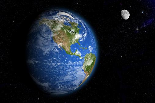 月「Earth and Moon」:スマホ壁紙(0)