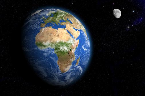 月「Earth and Moon」:スマホ壁紙(10)