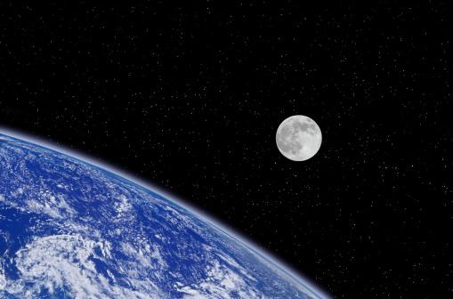 月「Earth and Moon」:スマホ壁紙(17)