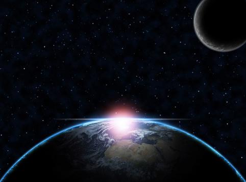Moon「Earth and Moon」:スマホ壁紙(11)