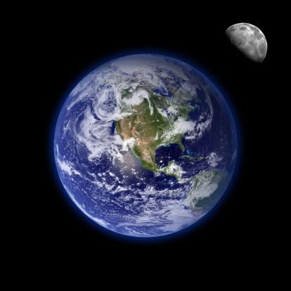 Moon「Earth and moon」:スマホ壁紙(2)