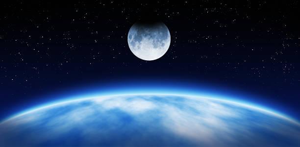 Earth and Moon:スマホ壁紙(壁紙.com)