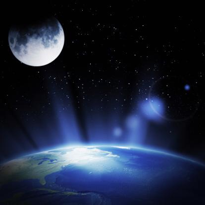 Moon「Earth and Moon」:スマホ壁紙(4)