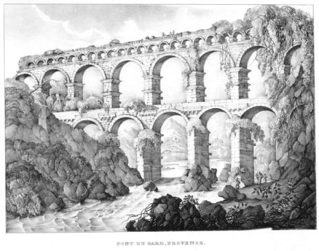 Roman「Roman aqueduct in southern France」:スマホ壁紙(16)