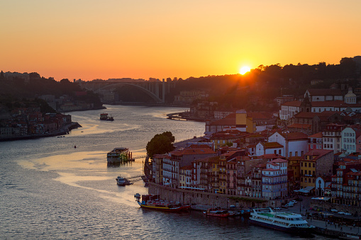 Sunset「The Ribera riverside area of Porto at night」:スマホ壁紙(9)