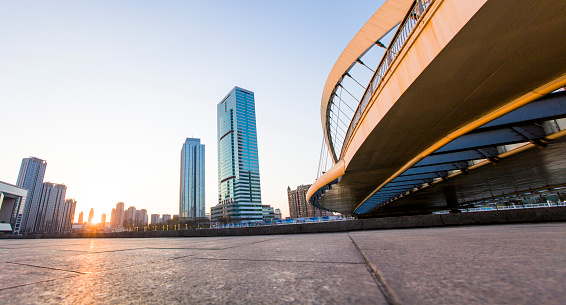 Pedestrian Zone「Overpass and buildings in Tianjin, China」:スマホ壁紙(11)